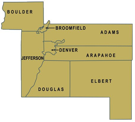 Regions Served by the HBA of Metro Denver